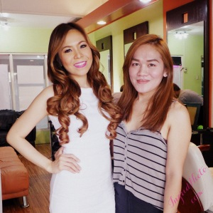 With my hair and make-up artist Apple. :-)