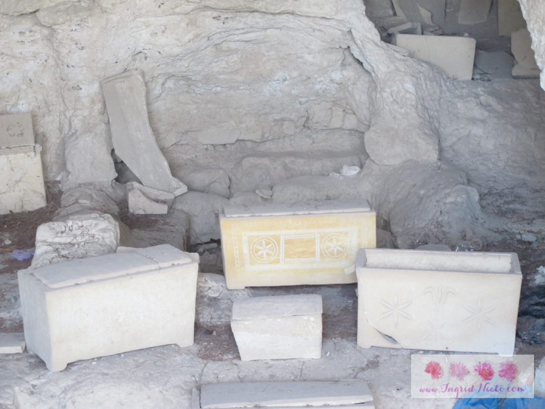 When the body of the deceased has decomposed, the bones are usually gathered and encased in these ossuaries (or bone boxes).