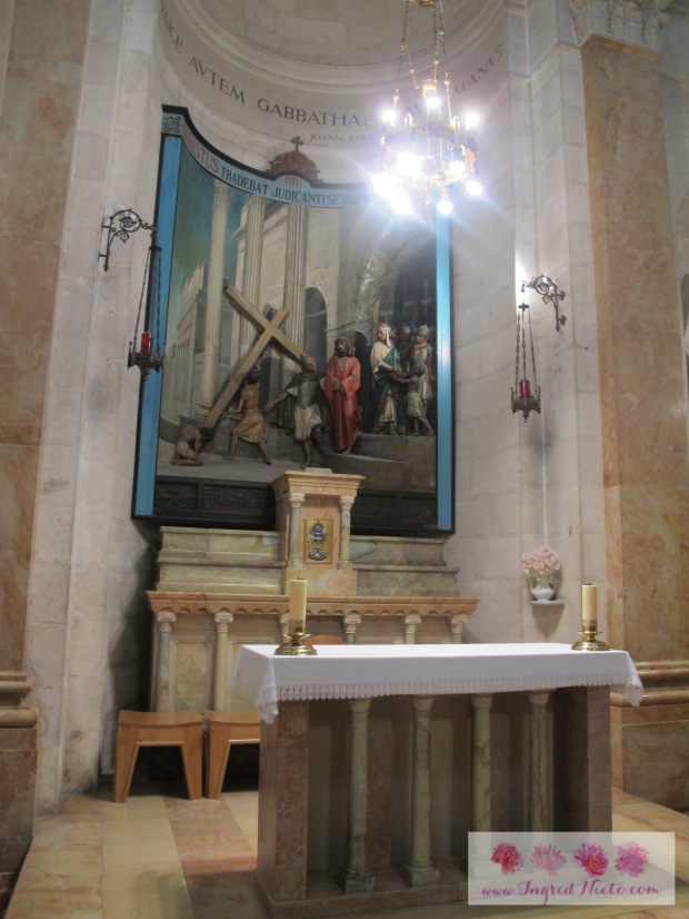 The Chapel of the Condemnation commemorates where Jesus took up the cross after He was sentenced.