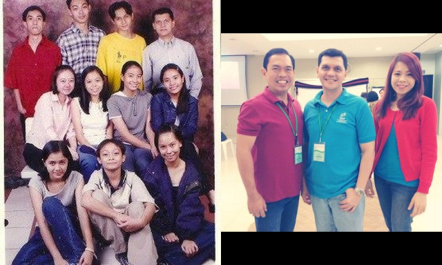 Then: Pastor Emer with our youth group some years ago. Now: Pastor Lloyd used to be our Resident Pastor in GCF East while Pastor Emer was our Youth Pastor. Being with them at the Leaders' retreat last weekend made me feel like 13 again.