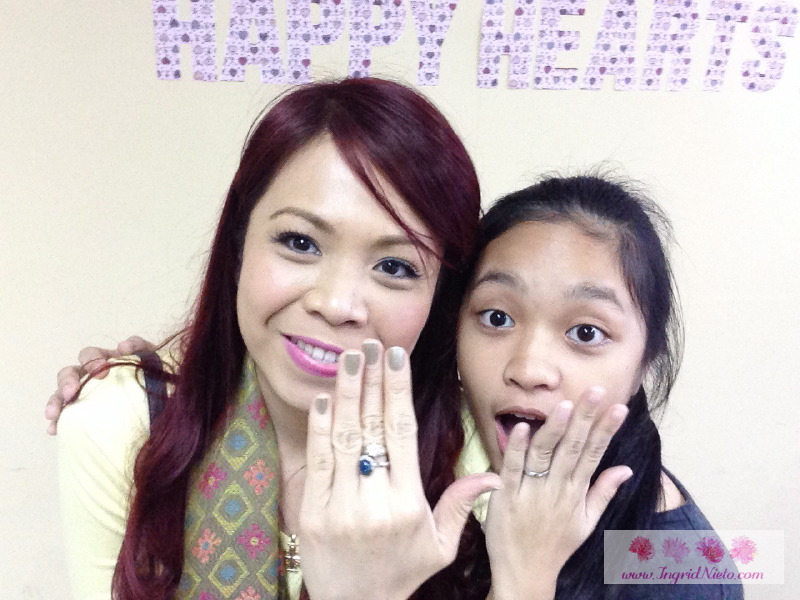 Me and my disciple Kayla, showing off our promise rings