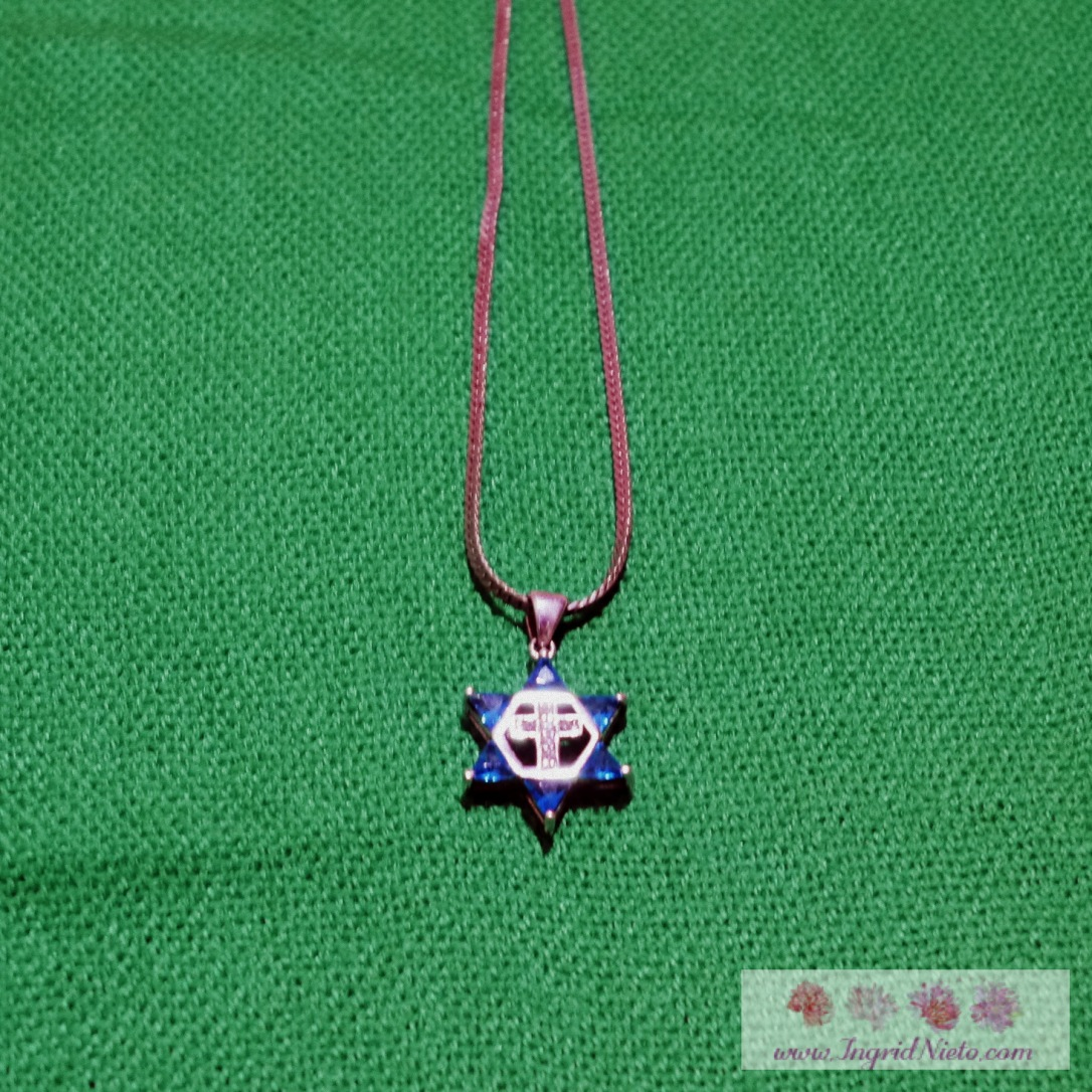 The Star of David is a symbol of Judaism. The six-pointed star points to God as David's True Shield.