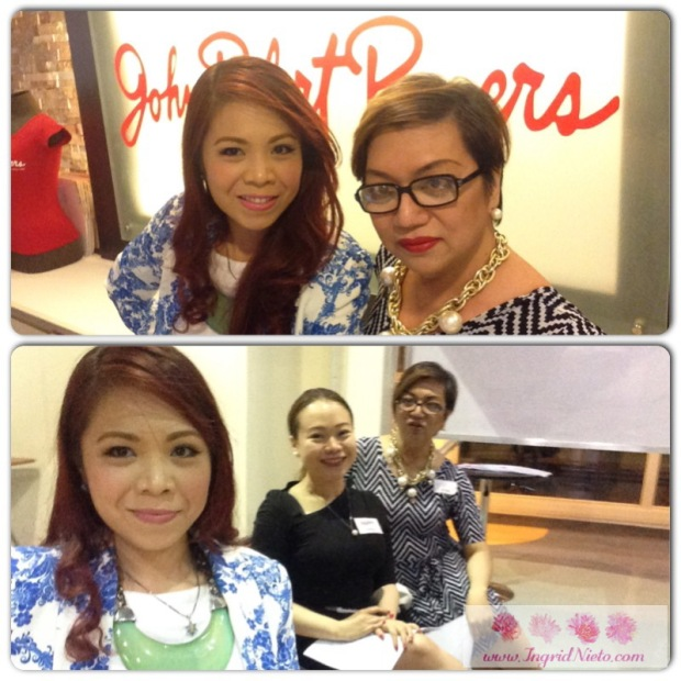 With my fellow instructors Miss Ning and Miss Happy at John Robert Powers. Miss Ning teaches Wardrobe, Visual Poise, Image Make-over and Runaway while Miss Happy handles most of the classes for kids and pre-teens.