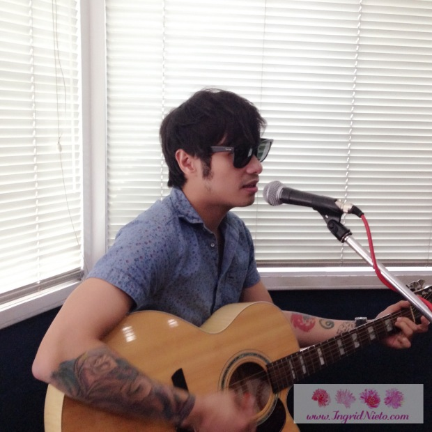 Kean Cipriano on vocals