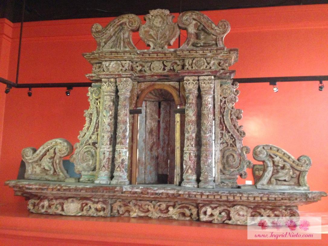 A retablo from the Church of San Nicolas de Tolentino (Dimiao, Bohol)